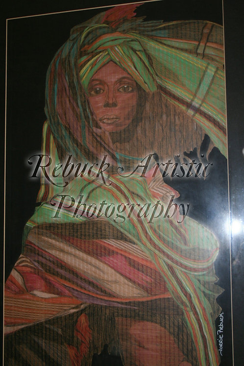 "Colored Ebony ""24 x 36 print"""