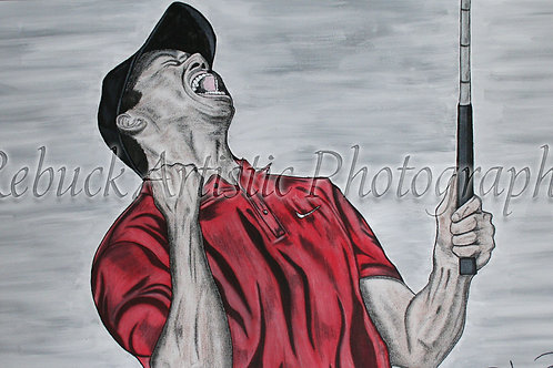 Tiger Woods 24 x 48 painting