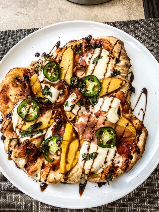Peach Prosciutto Jalapeno Pizza