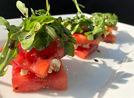 Grilled Watermelon Feta Stacks