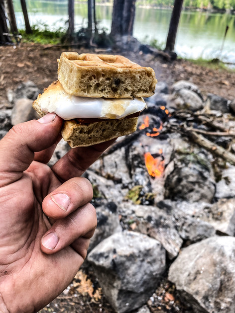 Waffle S'mores!