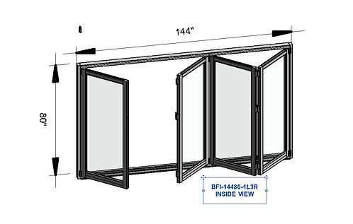 """Aluminum Patio Bifold Door - 144"""" x 80"""""""