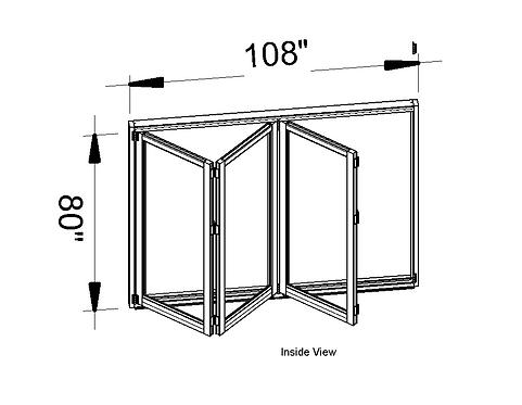 B70 Series| Teza Aluminum Bifold Door| 108″x 80″