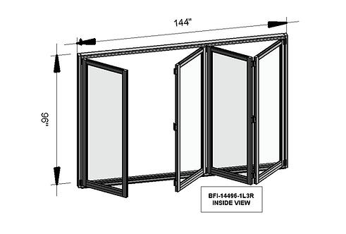 B70 Series| Teza Aluminum Bifold Door| 144″ x 96″