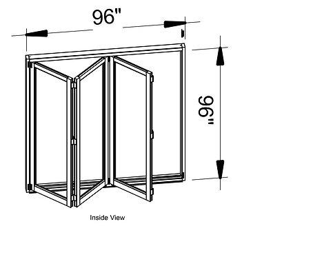 B75 Series| Teza Aluminum Bifold Door| 96″x 96″