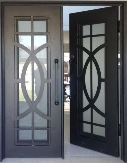 Wrought Iron Double Doors