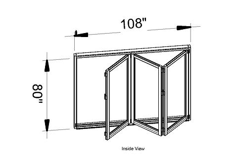 B75 Series| Teza Aluminum Bifold Door| 108″x96″