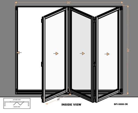 B70 Series| Teza Aluminum Bifold Door| 96″x80″
