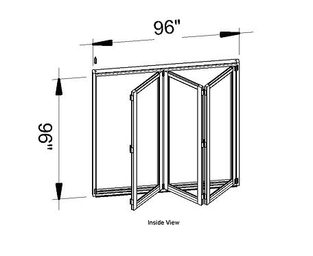 """Aluminum Patio Bifold Door - 96"""" X 96"""""""