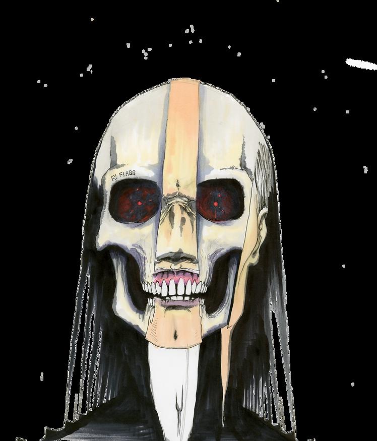 Crâne, squelette, démon, visage, lambeaux, chair