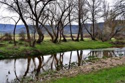 El río Corneja en invierno