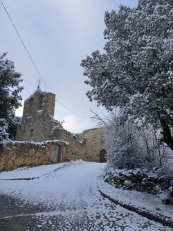 Iglesia de Valdemolinos. Año Nuevo 2021