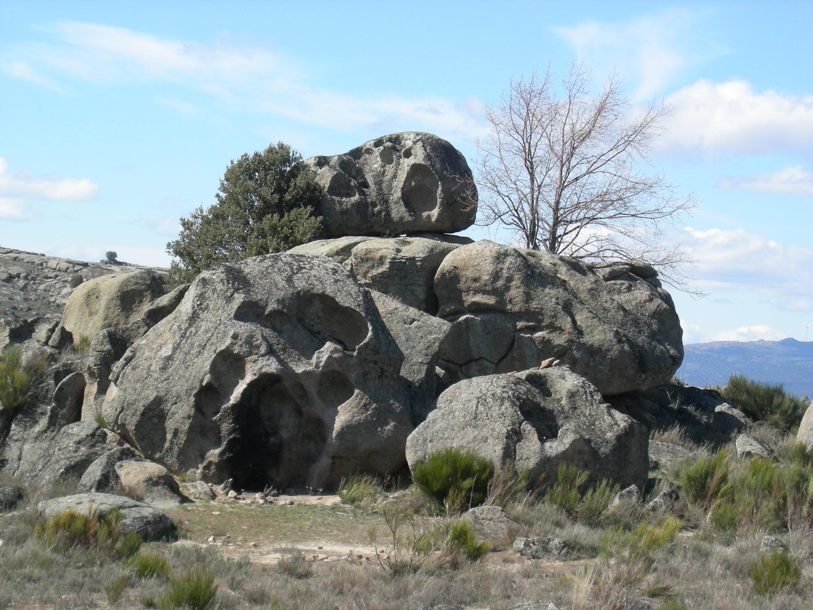 Tafonización en granitos