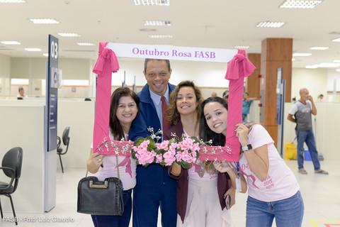 FASB realiza ação no SAC em apoio do OUTUBRO ROSA
