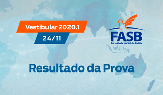 VESTIBULAR FASB 2020.1 - RESULTADO DA PROVA (24/11/2019)