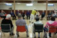 Social cirlce for volunteer led exercises