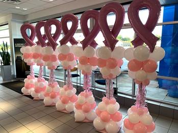 Balloon Colunms Brest Cancer Awareness.j