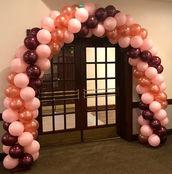 Classy Pink Garland Arch