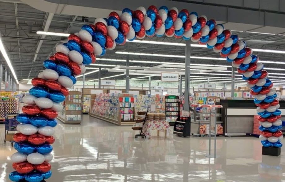 Walmart foil garland arch.jpg