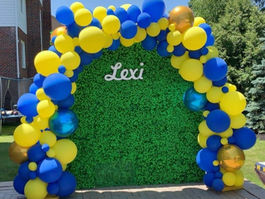 Blue and Yellow Full Organic Arch