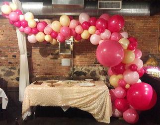 Pink organic arch