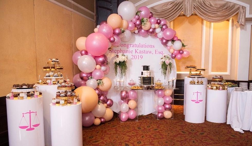 Organic balloon decor graduation birthday party paradise
