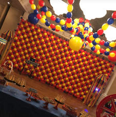Carnival Theme Balloon Wall and Ceiling