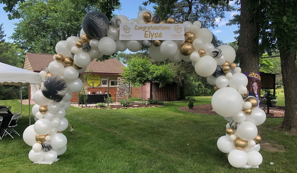 Graduation Balloons Organic Arch