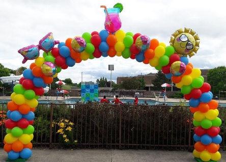 Summer themed garland arch