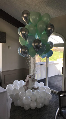 Cloud Bouquet with stuffed animal