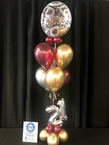 Stuffed balloon floor bouquet