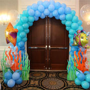 Under the sea themed balloon Arch
