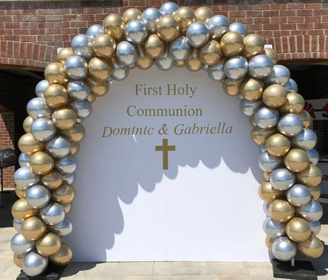 Chrome Gold and Silver Garland Arch