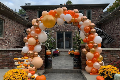 Fall Themed Full Organic Balloon Arch