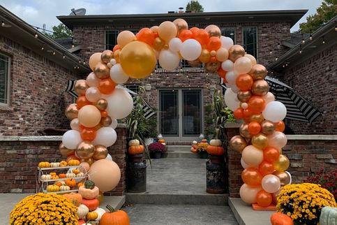 Fall Themed Full Organic Balloon Arch