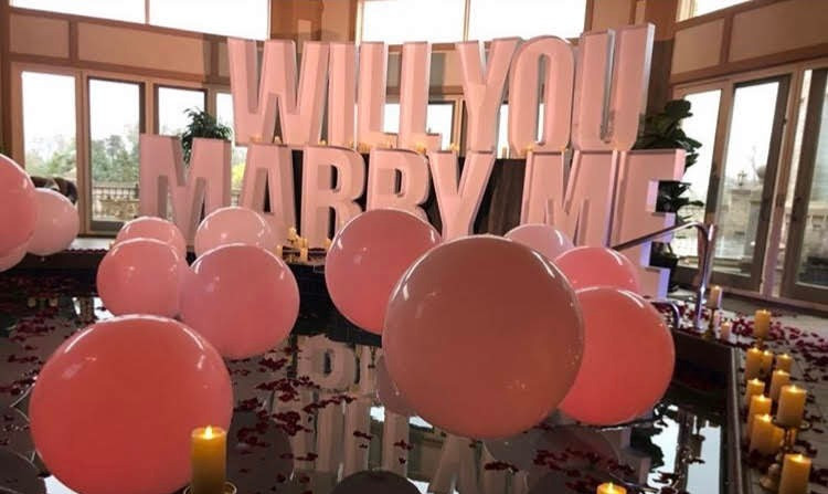 Proposal Idea Balloons Letters