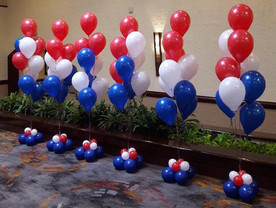 Floor Bouquets red white blue