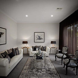 Living room completed by Adelaide property stylist