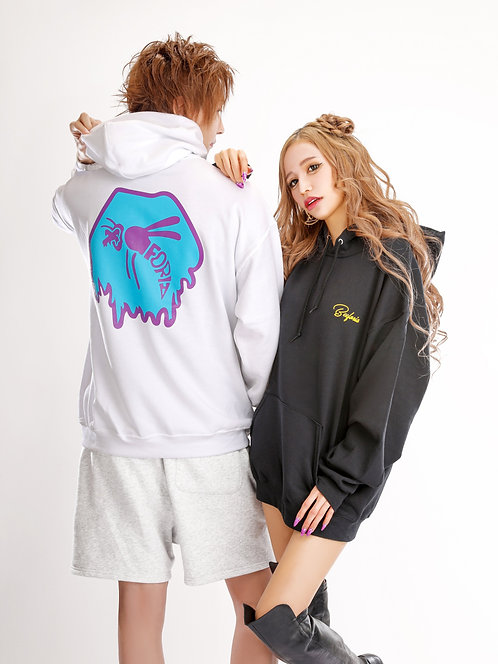 Ink Dripping Logo L/S Pullover Hoodie  [bf-pa12]