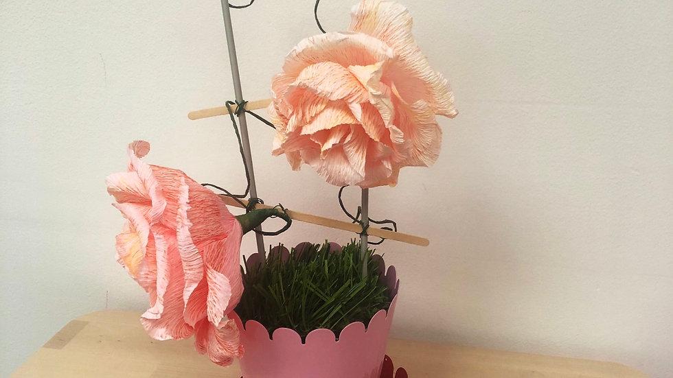 Italian crepe paper rose