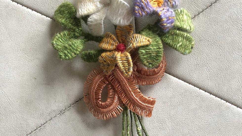 Woven Wool Bouquet Brooch (large)