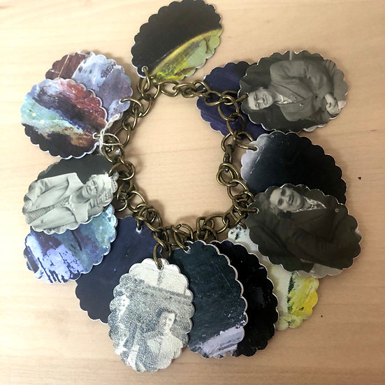 'Meet our Nanas' upcycled paper bracelt