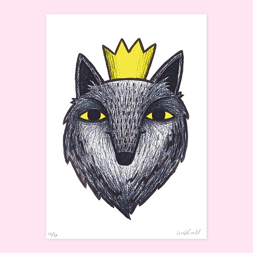 Dog King Screen Print