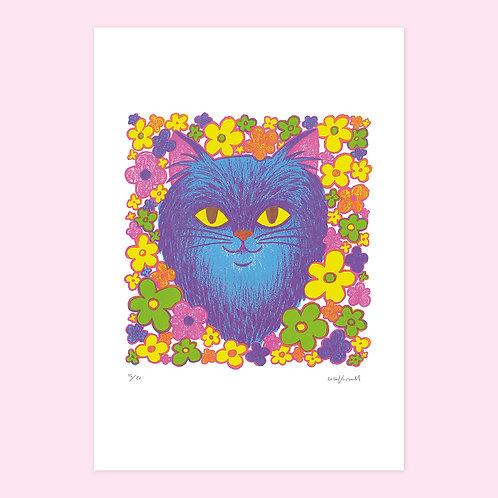 Garden Cat Screen Print