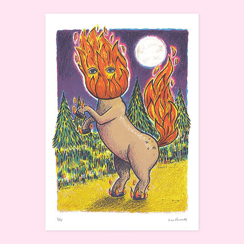 Headless Mule Screen Print
