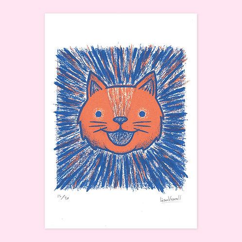 Cat Face Screen Print