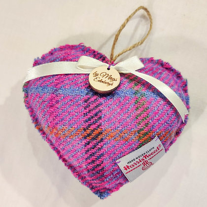 Lavender Filled Heart in Purple Harris Tweed