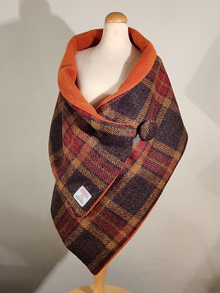 Harris Tweed Scarf in Autumnal Colours