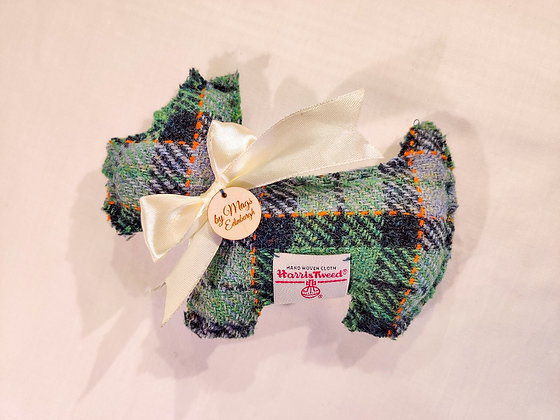 Lavender Filled Scottie Dog in Green Harris Tweed - Meet Iain