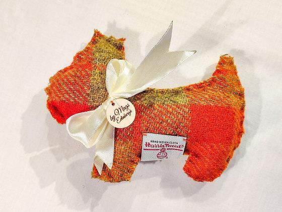 Lavender Filled Scottie Dog in Red Harris Tweed - Meet Rory